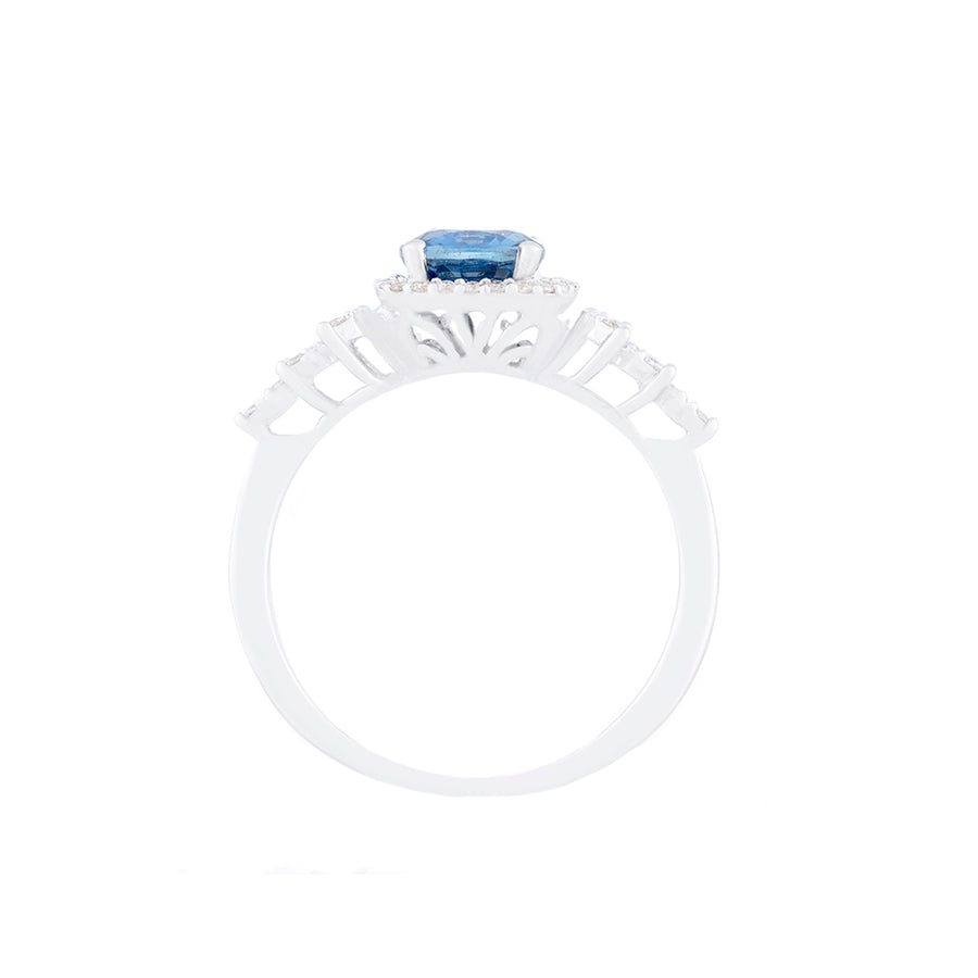 Sapphire Diamond Ring Side View