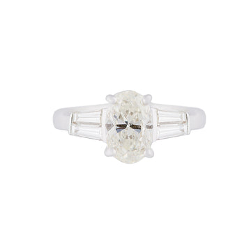 1 Carat Oval Cut Diamond Solitaire Ring