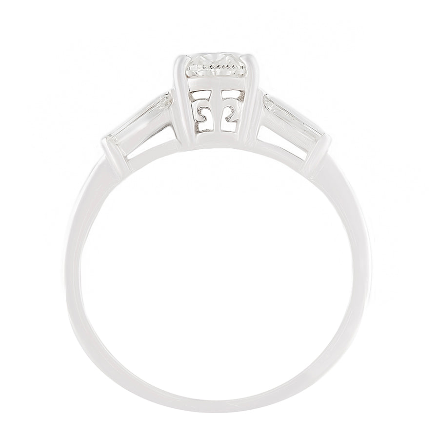 Diamond Solitaire Ring Top View