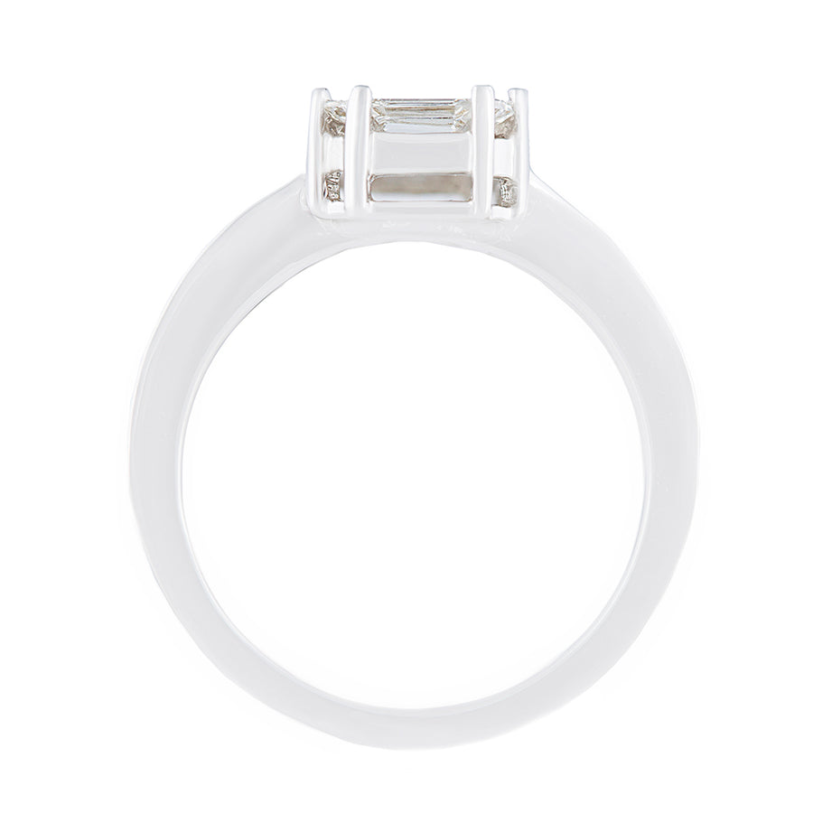 Invisible Setting Diamond Ring Top View
