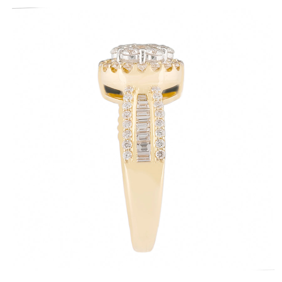 Yellow Gold Diamond Ring With Tapered Baguettes