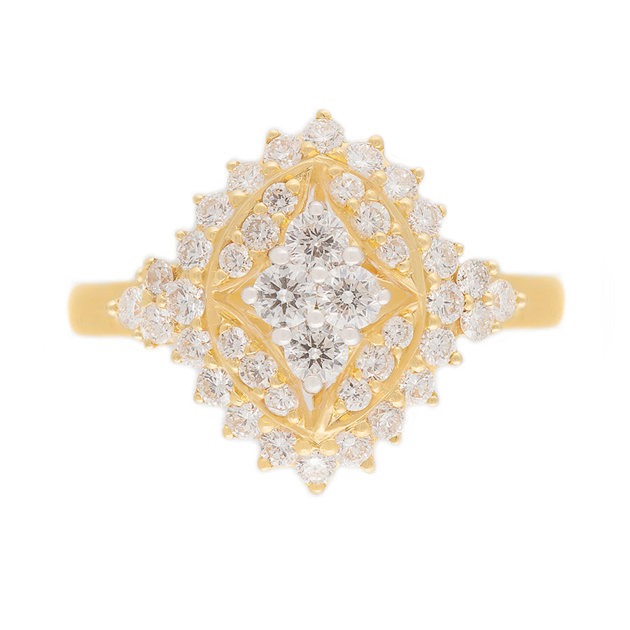 21 Kt Gold Diamond Ring