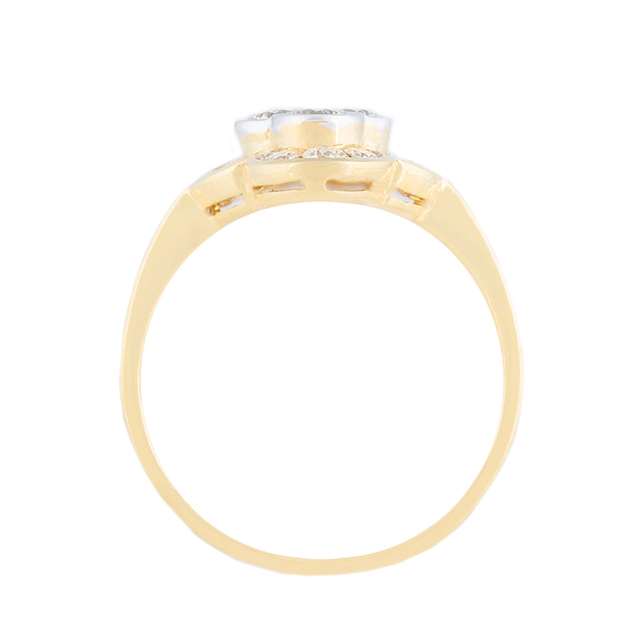 21 Kt Yellow Gold Multi Solitaire Diamond Ring