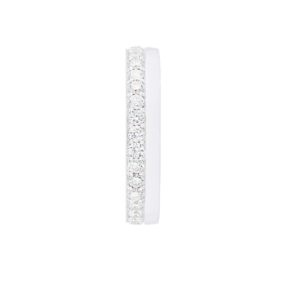 Side View Diamond Band White Gold