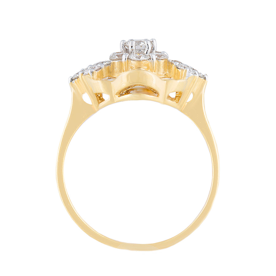 Yellow Gold Diamond Ring With Diamonds