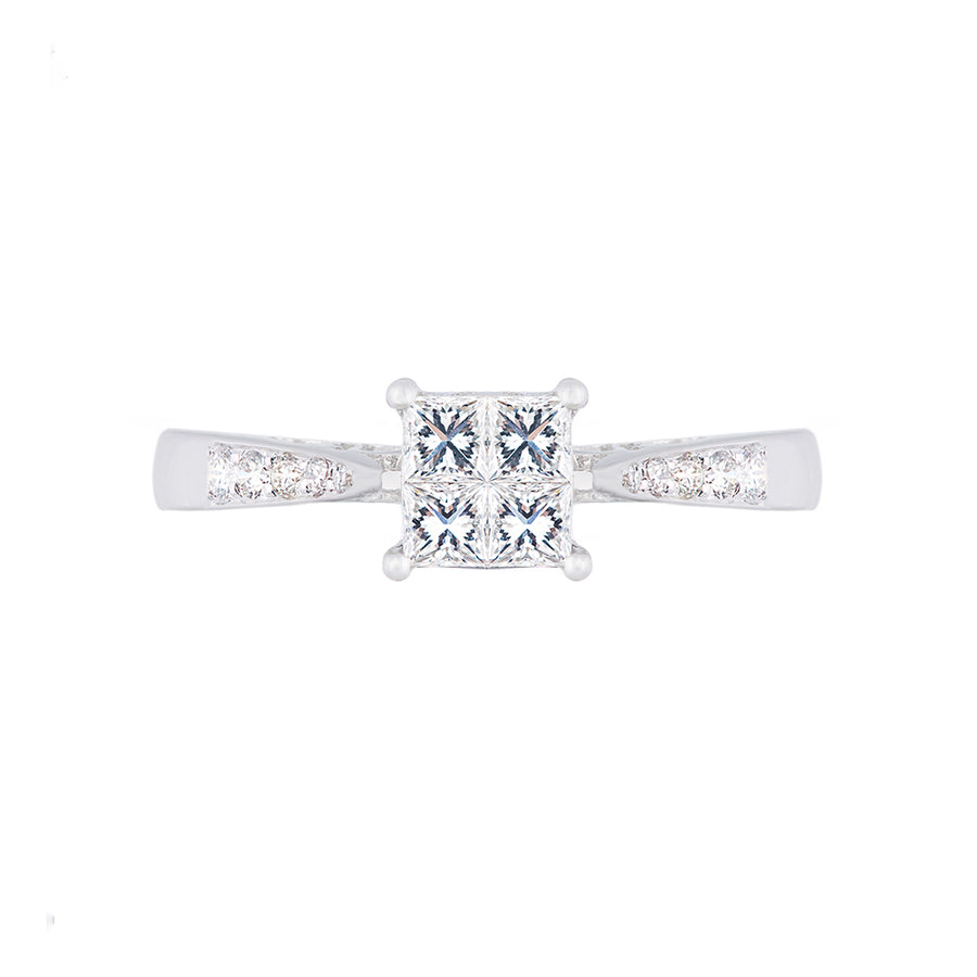 Princess Cut Setting Diamond Ring