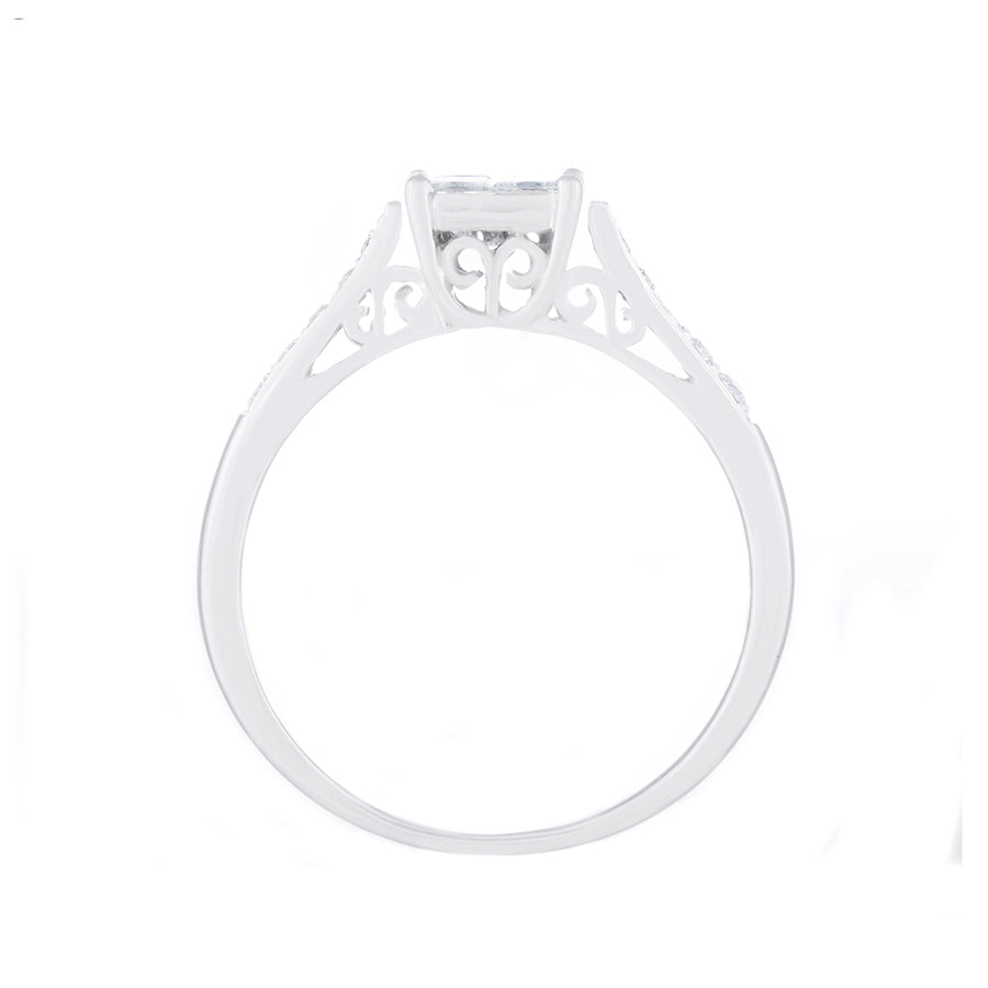 Illusion Setting Diamond Ring