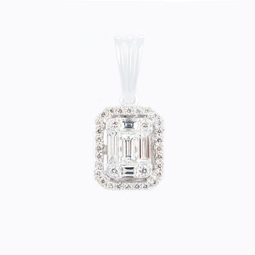 Square Shaped Diamond Pendant