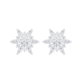 STAR SHAPE DIAMOND STUDS