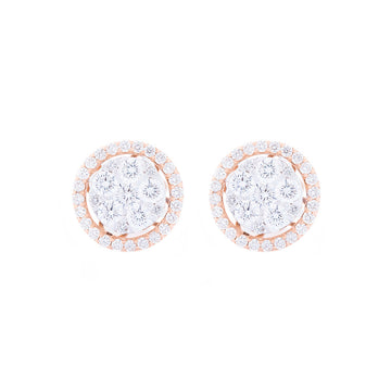 ROSE GOLD CLUSTER SETTING STUDS