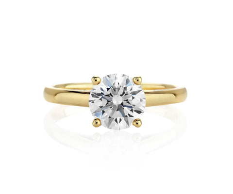 Classic Solitaire Diamond Ring- CS5 - patiala-diamonds