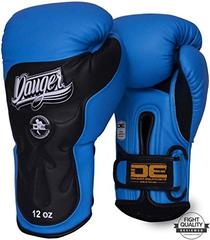 Danger Blue / Black Deluxe Ultimate Fighter Sparring Boxing Gloves