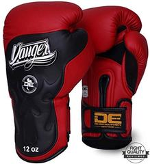 Danger Red / Black Deluxe Ultimate Fighter Sparring Boxing Gloves
