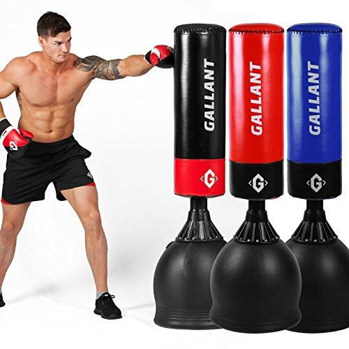 Image of Gallant 5.5ft Free Standing Boxing Punch Bag Stand Heavy Duty Martial Ats MMA Free Delivery Black, Yellow, Red, Blue Colour Punch Bag