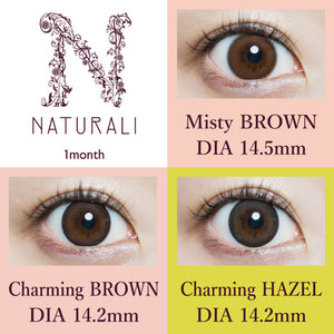 NEW! Naturali 1-month - Charming Hazel 1pc (14.2mm)