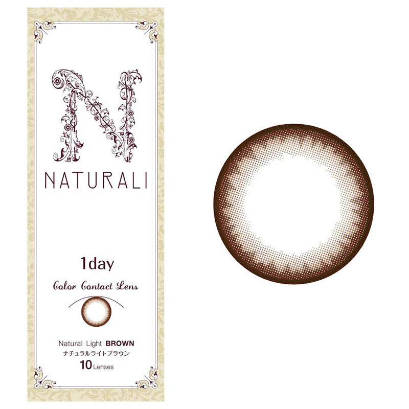 Naturali 1-day Natural Light Brown (14.2mm) 10pcs