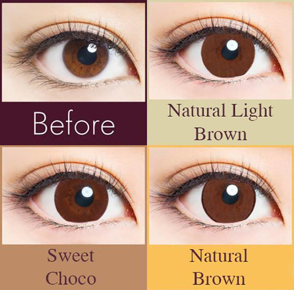 30 pcs Naturali 1-day Sweet Choco (14.2mm)
