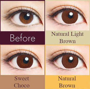30 pcs Naturali 1-day Natural Brown (14.2mm)