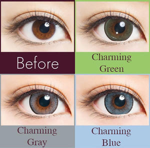 Naturali 1day - Charming Blue lens comparison / ???????????___???????????_????__??_??????_???????????__??????