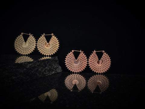 Tawapa Gold Plated Afghan Disc Hoops