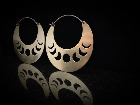 Ritual Remains Brass Lunar Phase Hoops
