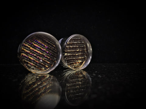 Gorilla Glass Iridescent Dichroic Plugs