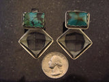 Datura Arizona Turquoise & Quartz Pyramid Weights
