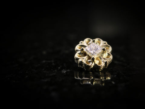 BVLA 18k Yellow Gold Lamia Diamond Threaded End
