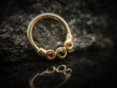 BVLA Yellow Gold Faraway Septum Seam Ring