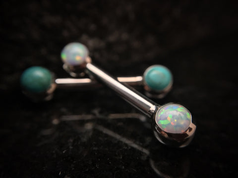 Anatometal 12g Forward Facing Gemmed Barbell