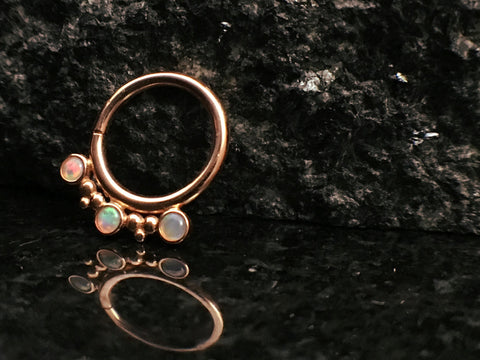 BVLA Rose Gold Eden Goddess Seam Septum Ring