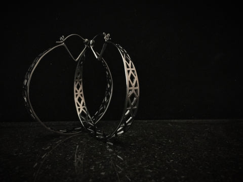 Tawapa Gunmetal Shadow Hoops