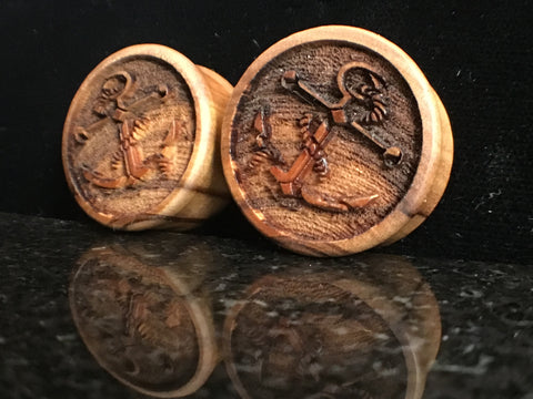 "Modifika 7/8"" Anchor Etched Wood Plugs"