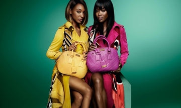 Burberry colour trench coat campaign