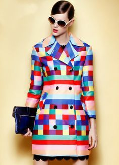Colourfol trench coat