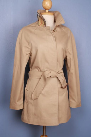Burberry short trench coat from the left