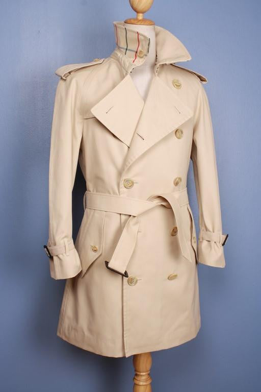 Burberry coat from the left side