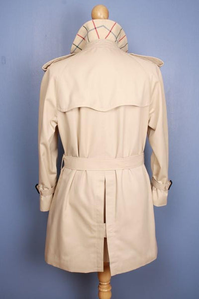 Burberry trench coat from the back