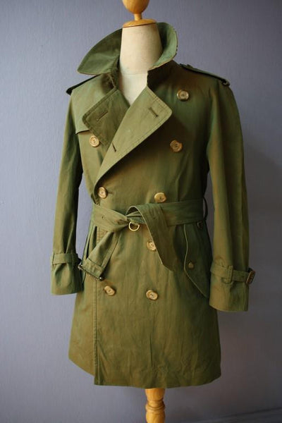 Burberry trench coat from the right