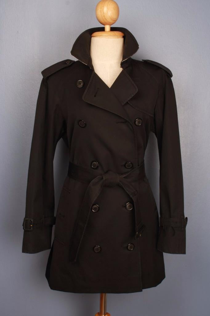 Black Burberry Trench Coat front