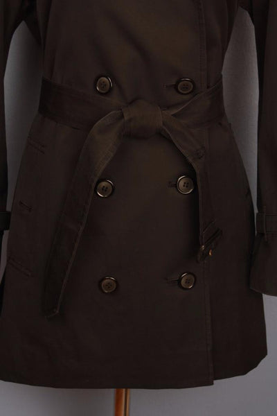Black Burberry Trench Coat Belt