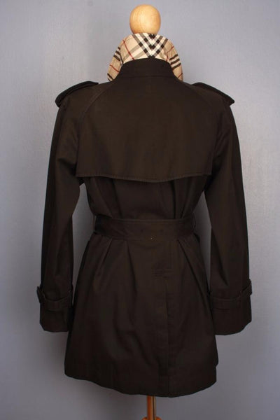 Black Burberry Trench Coat Back