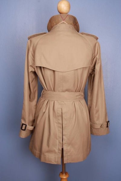 Burberry Short Trench Coat Back
