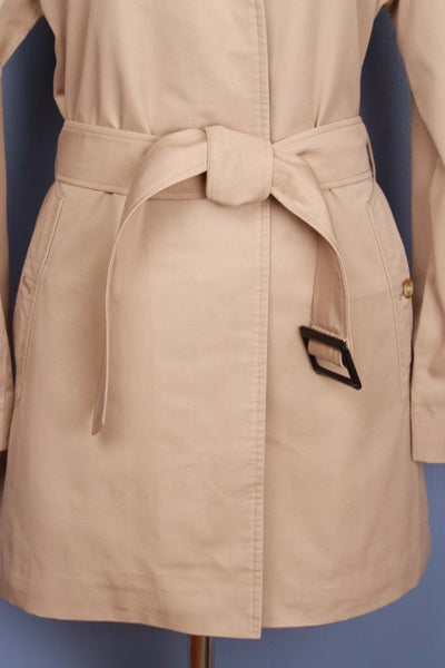 Single beige Burberry trench coat belt