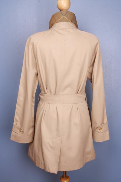 Single beige Burberry trench coat back