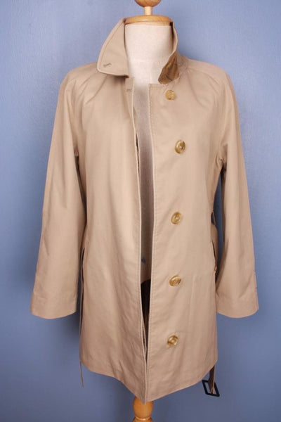 Single beige Burberry trench coat front open
