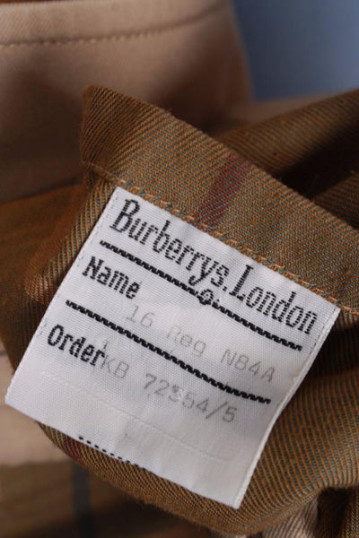 Single beige Burberry trench coat size label