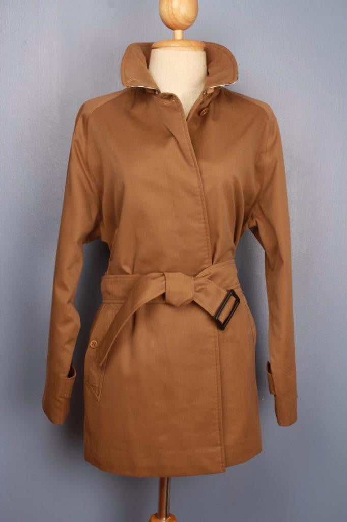 Brown Burberry Short Trench Coat Front