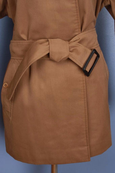 Brown Burberry Short Trench Coat Belt