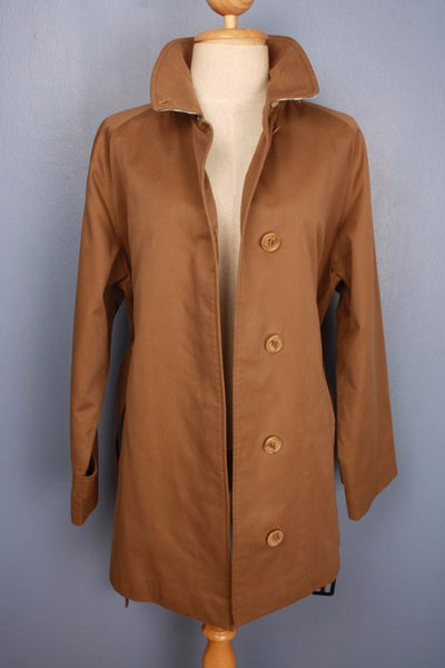 Brown Burberry Short Trench Coat Front open